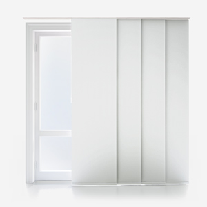 Touched By Design Supreme Blackout Porcelain White Panel Blind