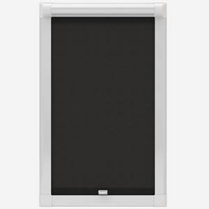 Eclipse Origin Plain Black Perfect Fit Roller Blind