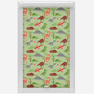 Railux Dino Green Perfect Fit Roller Blind