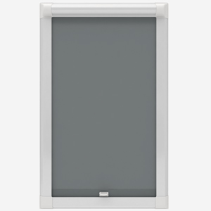 Touched By Design Absolute Blackout Dark Grey Perfect Fit Roller Blind