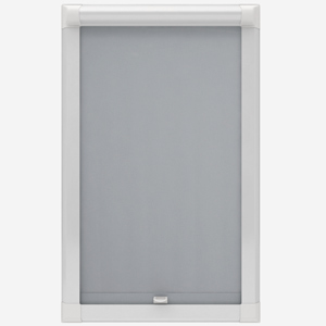 Touched By Design Absolute Blackout Light Grey Perfect Fit Roller Blind