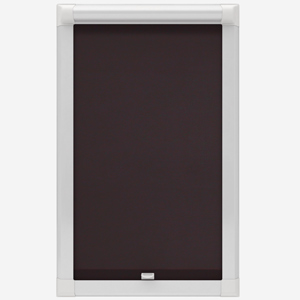 Touched by Design Deluxe Plain Espresso Perfect Fit Roller Blind