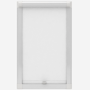 Touched by Design Deluxe Plain Porcelain White Perfect Fit Roller Blind