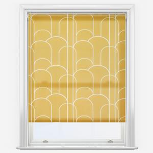 Sonova Studio Arch Deco Gold Roller Blind