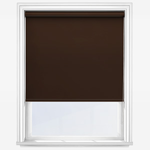 Touched By Design Absolute Blackout Chocolate Roller Blind
