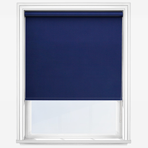 Touched by Design Deluxe Plain Indigo Roller Blind
