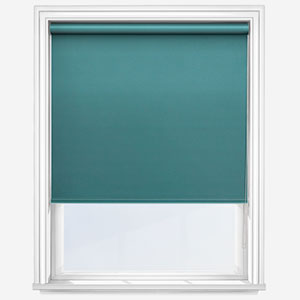 Touched by Design Deluxe Plain Ocean Green Roller Blind