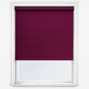 Touched by Design Deluxe Plain Plum Roller Blind