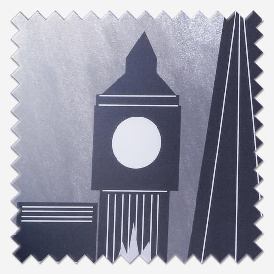 Universal London Skyline Black Blackout roller