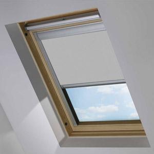 Essentials Light Grey Blackout Roof Blind
