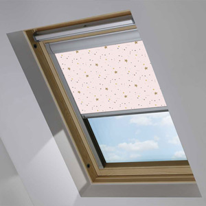 Essentials Stars Blush Roof Blind