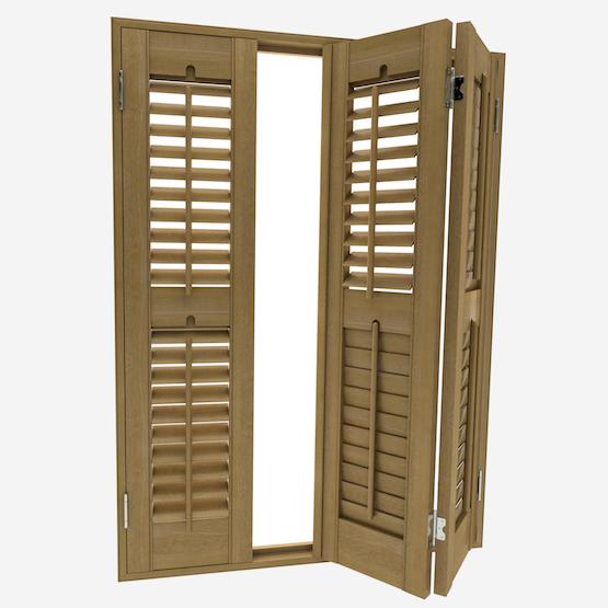 Premier Warm Oak shutter