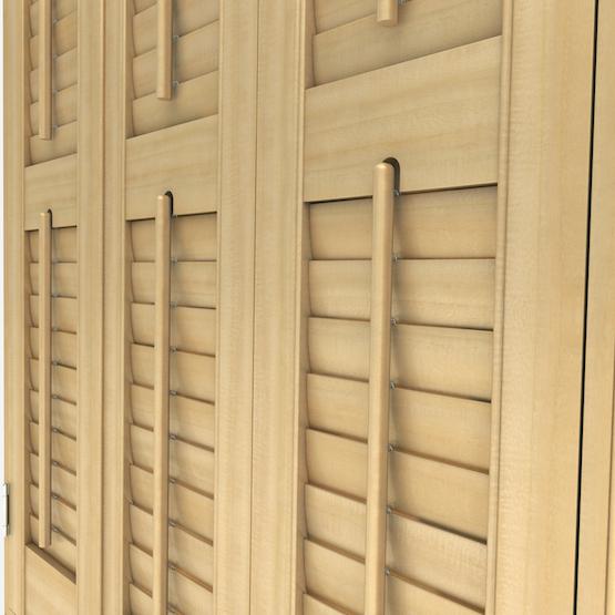 Premier Natural Oak shutter