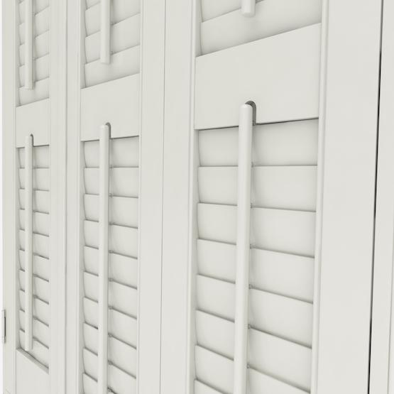 Premier Pearl White shutter