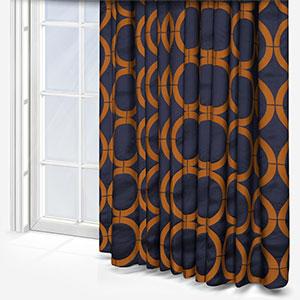 Cercle Broderie Bleu Curry Curtain