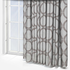 Cercle Broderie Gris Curtain