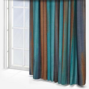 Costa Rica Tissus Papillon Turquoise / Cuivre Curtain