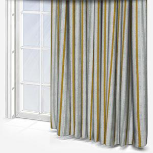 Costa Rica Tissus Rayures Aqua Curtain