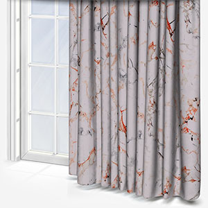 Earth Velours Marbre Gris/Cuirve Curtain