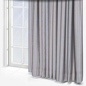 My Little World Rayure Bleu/Beige/Gris Curtain