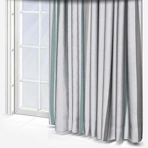 Ohio Tissus Rayure Bleu Curtain