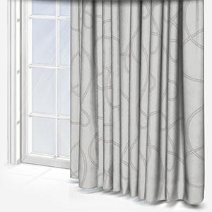 Prague Tissu Lacet Brode Taupe Curtain