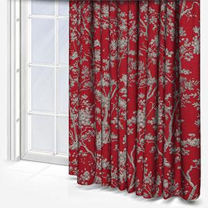 Tissu Arbre Lin Rouge Curtain