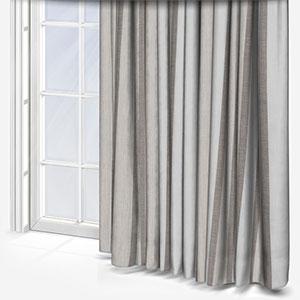 Tissu Rayure Rythm Blanc Lin Curtain
