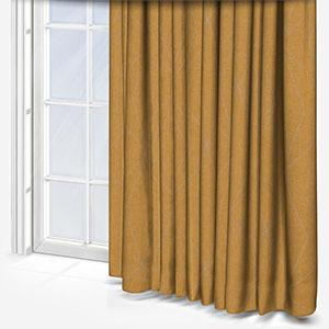 Tissus Berlin Art Jaune Curtain