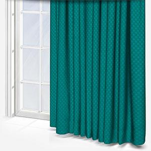 Tissus Berlin Damier Emeraude Curtain