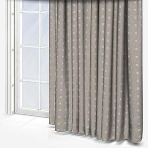 Tissus Berlin Pastilles Blanc Curtain