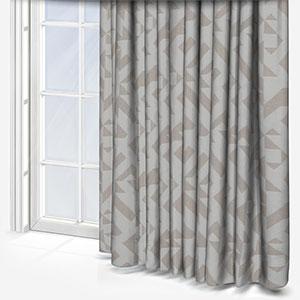 Tissus Berlin Puzzle Blanc Curtain