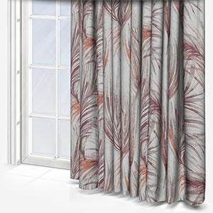 Tissus Costa Rica Tropical Prune Curtain