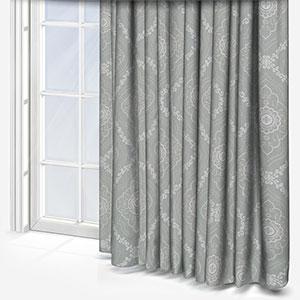 Tissus Manosque Faience Bleu Clair Curtain