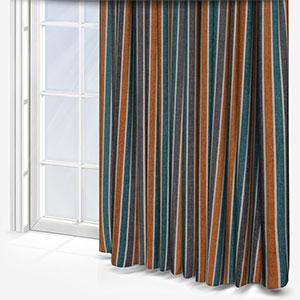 Tissus Manosque Rythme Emeraude Curtain