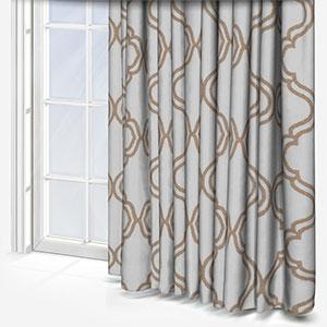 Tissus Manosque Volute Beige Curtain