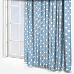 Cath Kidston Button Spot Blue Curtain