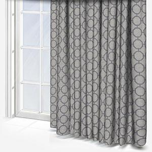 Clarke & Clarke Glamour Charcoal Curtain