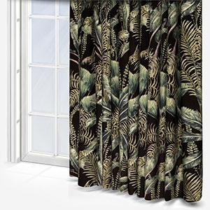 Clarke & Clarke Majorelle Velvet Charcoal Curtain