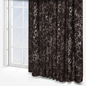 Pietra Charcoal Gold Curtain