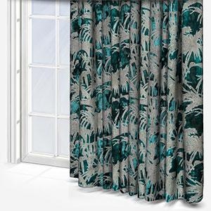 Clarke & Clarke Tropicale Kingfisher Curtain