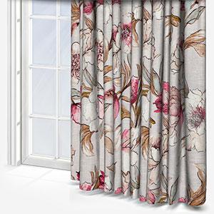 Edinburgh Weavers Savoy Stone Pink Curtain
