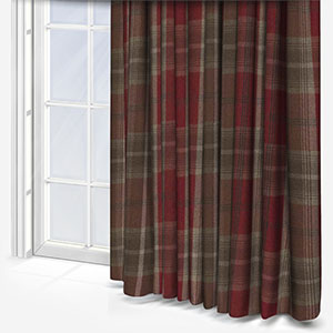 Fryetts Balmoral Red Curtain