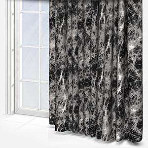 Fryetts Lava Charcoal Curtain