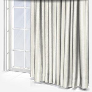 Mono Stripe White Curtain