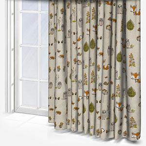 Fryetts Woodland Fox Multi Curtain