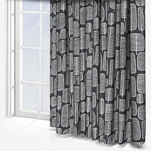 MissPrint Little Trees Charcola Curtain