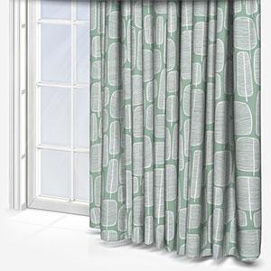 MissPrint Little Trees English Grey Curtain