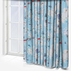 Olivia Bard Personalised Treasure Map Blue Curtain