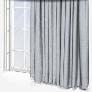 Olivia Bard Stars Grey Curtain